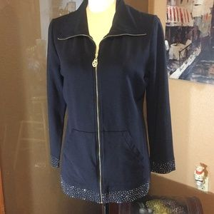 Chritine Alexander Black Bling spa zip jacket